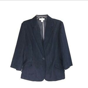 Coldwater Creek 16 Denim blazer